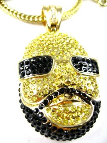 Iced out rick ross face hip hop pendant w chain gold amazon iced out rick ross face hip hop pendant w chain gold aloadofball Gallery