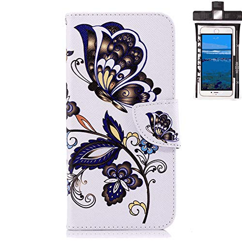 Samsung Galaxy S8 Plus Flip Case, Cover for Samsung Galaxy S8 Plus Leather Card Holders Kickstand Extra-Shockproof Business Cell Phone Cover with Free Waterproof-Bag Absorbing