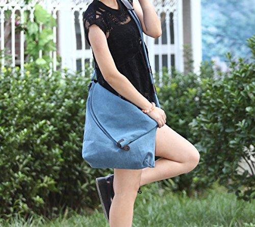 Lona Mujer Hombro Bolsos Ocasionales Salvaje Moda,D-OneSize