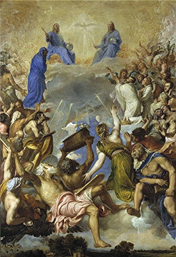 High Quality Polyster Canvas ,the High Resolution Art Decorative Canvas Prints Of Oil Painting 'Titian [Vecellio Di Gregorio Tiziano] Glory 1551 54 ', 16 X 23 Inch / 41 X 59 Cm Is Best For Home Office Decor And Home Gallery Art And Gifts (Wicker Furniture Repair Miami)