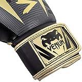 Venum Elite Boxing Gloves - Dark camo/Gold - 16 Oz