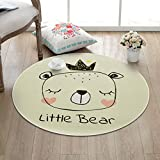 Hyun times Carpet children's cartoon round living room bedroom coffee table room hanging basket bedside home computer chair mats ( Color : A , Size : 150cm )