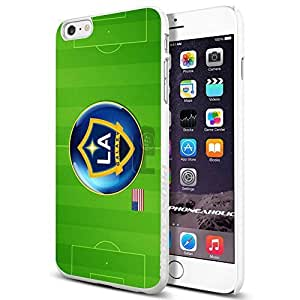 Soccer MLS LA GALAXY FC SOCCER FOOTBALL CLUB,Cool iPhone 4/4s (6+ , ) Smartphone Case Cover Collector iphone TPU Rubber Case White