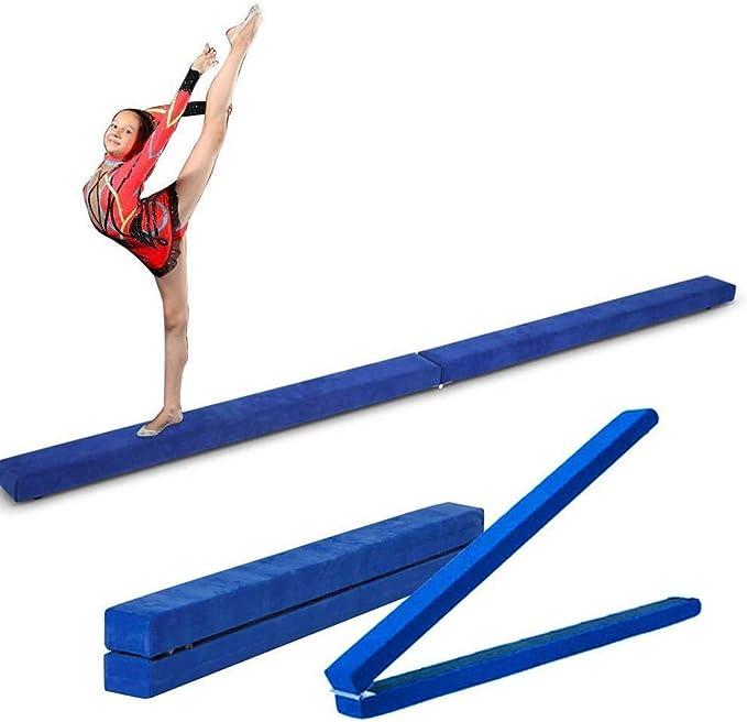 Nannday Faltbarer Schwebebalken 7FT Wildleder Gymnastik Trainingsger/ät Lila