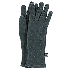Under Armour Girls' Cozy Glove, Rebel Pink/Metallic Silver, Youth Large