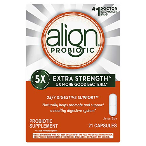 Align Extra Strength Probiotic, Probiotic Supplement for Digestive Health in Men and Women, 21 capsules, #1 Doctor Recommended Probiotics Brand