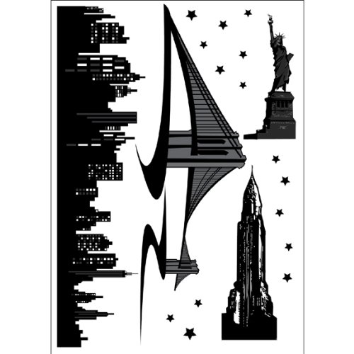 New york skyline grand autocollant mural 30 cm b002o0tmia for Autocollant mural new york