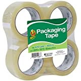 Duck Brand Standard Packaging Tape, 1.88 Inches. x 100 Yards, Clear, Pack of 4 (240593)