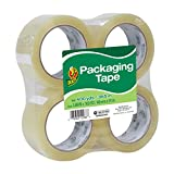 Arts & Crafts : Duck Brand Standard Packaging Tape, 1.88 Inches. x 100 Yards, Clear, Pack of 4 (240593)
