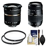 Tamron 10-24mm f/3.5-4.5 Di II SP LD ASP (IF)(BIM) & 70-300mm f/4-5.6 Di Macro Zoom Lens + Filters + Kit for Nikon D3200, D3300, D5300, D5500, D7100, D7200 Cameras