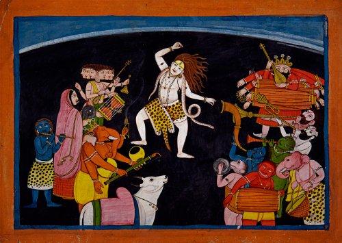 "Unknown Artist : ""Lord Shiva Dancing"" (c1700-1800) - Giclee Fine Art Print"