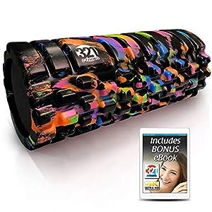 321 STRONG Foam Roller – Medium Density Deep Tissue Massager – Muscle Massage + Myofascial Trigger Point Release – Includes 4K eBook