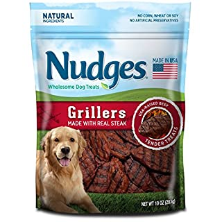Nudges Steak Grillers Dog Treats, 10 oz