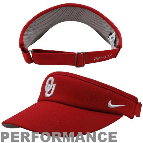 NCAA Oklahoma Sooners Sideline Dri-FIT Adjustable Performance Visor - Crimson by NCAA