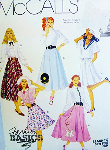 MCCALLS 8136 MISSES CIRCULAR SKIRT (POODLE) SIZE 14 ~ SEWING PATTERN (Poodle Size)