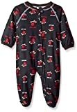 NBA Miami Heat Newborn Sleepwear All Over Print Zip Up Coverall, 0-3 Months, Black