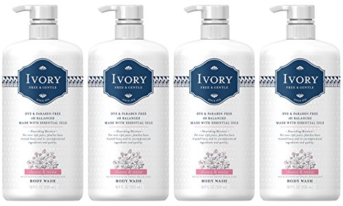 Ivory Free & Gentle Cleanse & Revive Body Wash with Sweet Pea & Lily Scent, 16.9 Fluid Ounce (Pack of (Ivory Sweet)