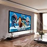 "GHP 92"" 1:1 Gain Diagonal PVC CLoth 160° 16:9 Fixed Aluminum Frame Projector Screen"