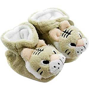 KF Baby Animal Soft Sole Booties, for 3 - 12 Months - Tiger