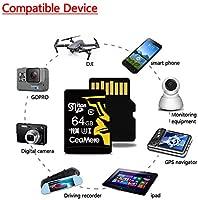 H&T Tarjeta Micro SD + Adaptador SD, Tarjeta De Memoria ...