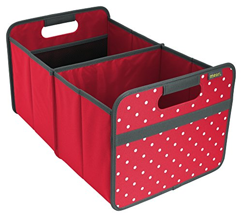 meori Classic Large, Hibiscus Red with Dots, Collapsible Box to Organize, Store and Carry Anything and Everything