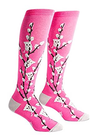 Sock It To Me Kitty Willows Knee High Sock Pink  5-10