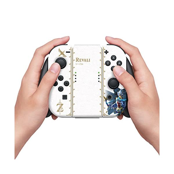 """Controller Gear Nintendo Switch Skin & Screen Protector Set Officially Licensed By Nintendo - The Legend of Zelda: Breath of the Wild: """"Revali White Pattern"""" - Nintendo Switch 3"""
