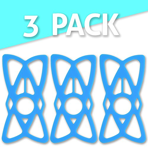 Tackform Solutions Replacement Bike Phone Mount Rubber Tether Straps Phone Bands – [Blue 3-Pack] – Premium Grade Rubber. Works with most Phones, Cases, and Bike Mounts on the market. By TACKFORM