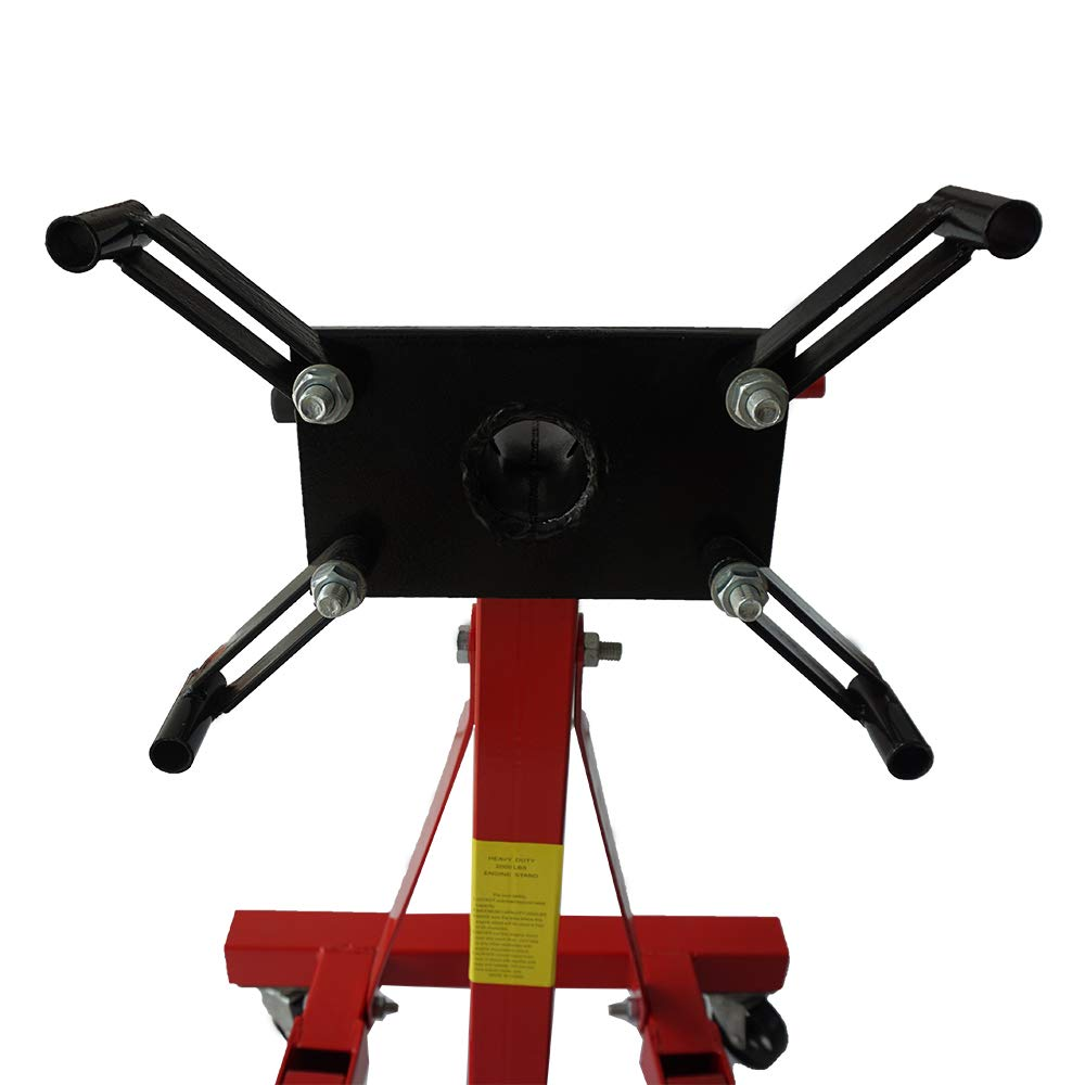SUNROAD 2000LBS Engine Motor Stand Hoist Auto Car Truck Automotive Folding Shop Jack Rotating Head Motor Stand