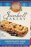 Sunbelt Bakery Chocolate Chip Chewy Granola Bars, 10 bars per box, 10.56 oz, (12-Boxes)
