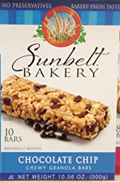 Sunbelt Bakery\'s CHOCOLATE CHIP Chewy Granola Bars 10-Count (6 Boxes)