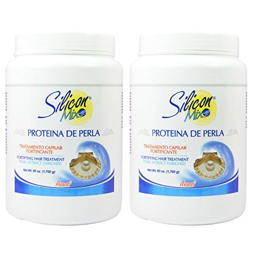 Silicon Mix Protieina De Perla Hair Treatment 60oz Pack of 2