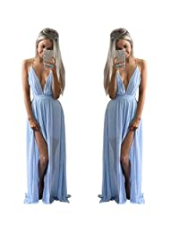 Willsa Sexy Summer Women Chiffon Sleeveless Boho Long Maxi Evening Party Beach Dress
