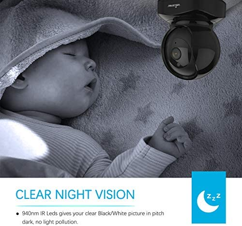 Wansview Wireless Security Camera, IP Camera 1080P HD, WiFi Home Indoor Camera for Baby/Pet/Nanny, Motion Detection, 2 Way Audio Night Vision, Works with Alexa, with TF Card Slot and Cloud 51JG ITd3iL