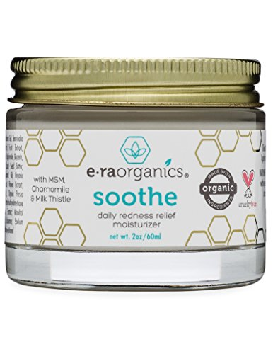 Soothe Redness Relief Cream (2oz.) Anti Inflammatory Natural Face Moisturizer Cream For Rosacea, Eczema, Acne, Dry, Sensitive Skin With Milk Thistle, MSM, Avocado Oil & Chamomile.