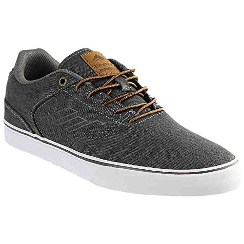 Emerica Men's The Reynolds Low Vulc Skateboarding Shoe, Black Wash, 7 M US - Reynolds Skateboard Shoe