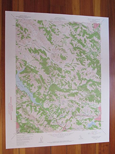 Briones Valley California 1960 Original Vintage USGS Topo - Valley Of Map Fair