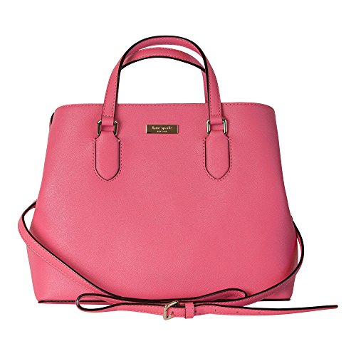 Kate Spade New York Laurel Way Evangelie Saffiano Leather Shoulder Bag Satchel,(Warm Guava)