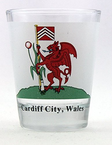 Cardiff City Wales Coat Of Arms Shot Glass
