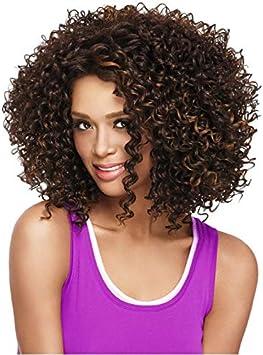 Perruque Afro Bouclee Courte Pour Femme Africaine Resistante A La Chaleur Cheveux Synthetiques Marron Clair Amazon Fr Beaute Et Parfum