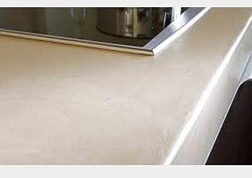 encimera cocina microcemento blanco marfil - Encimeras De Cocina Aglomerado