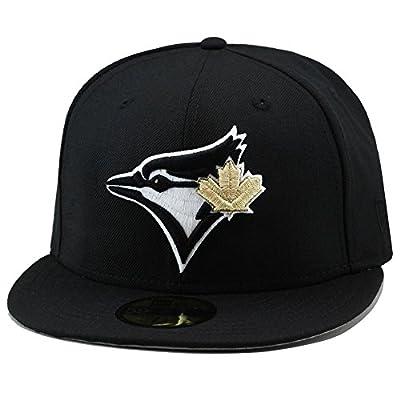 New Era Toronto Blue Jays Fitted Hat Cap Black/Gold