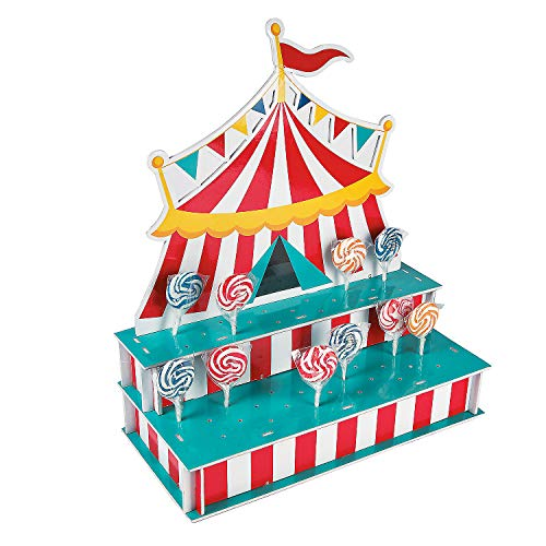 Circus Tent Shaped Lollipop Stand - Circus Party Supplies (Holds 48 Suckers)]()