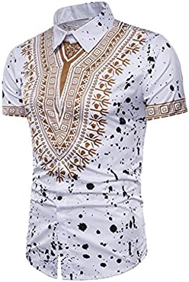 greate stpak Polo Camisa Hombre Verano Casual African Print Top ...