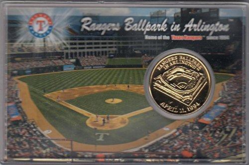 Texas Rangers Ballpark in Arlington 24K Gold Coin Postcard Set fully - The Highlands Arlington In