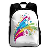 Kids Backpack Colorful Galaxy Stars Space Boys School Daypack Amazing Gift