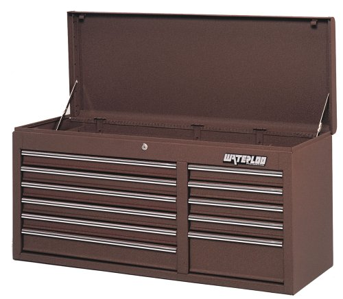 "41"" 11 Drawer Tool Roomseries Chest Brown Wrink"