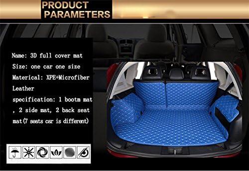 Black Business Class Car Mats with Blue Check for PORSCHE MACAN 16-17