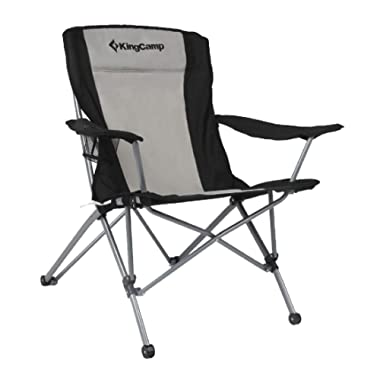 KingCamp Heavy Duty Folding Arm Chair with Comfotable Tilted Back