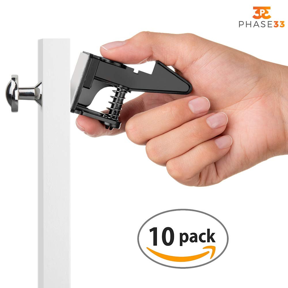 Keyless Invisible Safety Locks for Cupboard, Refrigerator, Drawers, Appliances. Prevents Children & Pets from Opening, Strong 3M Adhesive. Simple to Install No Tools Needed